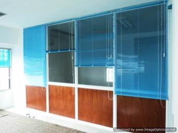 Blue flute aluminum blinds